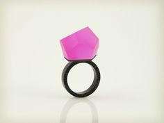 Vu - fluorescent pink, ruthenium ring - =PYO=