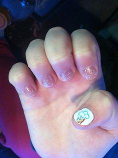 Kids nail design.. My little pony rainbow dash cutie mark!!