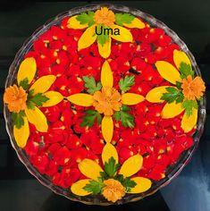 Floating flowers Rangoli Designs Flower, Rangoli Ideas, Flower Rangoli, Flower Mandala, Flower Designs, Flower Art, Diwali Decorations, Indian Wedding Decorations, Festival Decorations