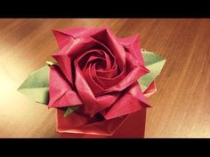 Only one origami rose 17