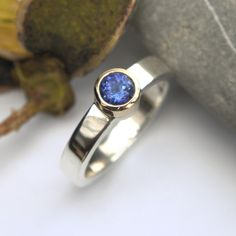 AAA grade Tanzanite silver and gold ring polished finish Gold And Silver Rings, Druzy Ring, Handmade Jewelry, Etsy Seller, Contemporary, Diy Jewelry, Craft Jewelry