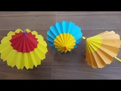 How to make a paper umbrella for kids that open and closes-Easy step by step process. - YouTube