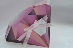 Pink Diamond Shape Card