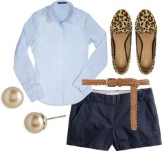 """""""Blue and Leopard Print"""" by frecklegrrl ❤ liked on Polyvore"""