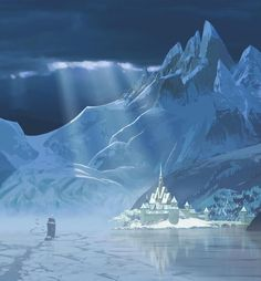 Get a glimpse at Arendelle, a kingdom trapped in eternal winter in this new piece of concept art from Frozen.