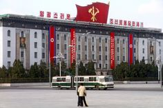 Government building, Pyongyang, North Korea