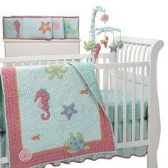 sally the seahorse crib set | beautiful baby girl crib bedding sally the seahorse by laura ashley ...