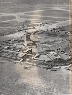Aerial view of London Heathrow airport, 1955 South London, Old London, West London, London Airports, London Places, London History, Heathrow Airport, London Street, Surrey