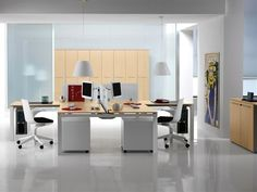 Modern office interior design ideas by #InterioOptions. Visit: http://interioroptions.in/  #interiordesigns #designideas #officespace #commercialspace