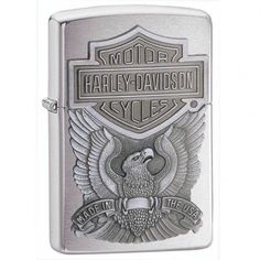 Harley Davidson Eagle Zippo Lighter-*NEW* Lifetime Warranty-Made in USA
