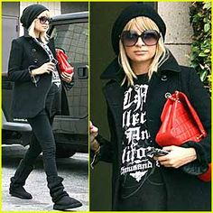nicole richie cute rocker maternity style