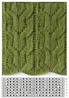 This Pin was discovered by Нат Lace Knitting Stitches, Cable Knitting Patterns, Knitting Charts, Loom Knitting, Knitting Designs, Knit Patterns, Stitch Patterns, Free Knitting, Ravelry