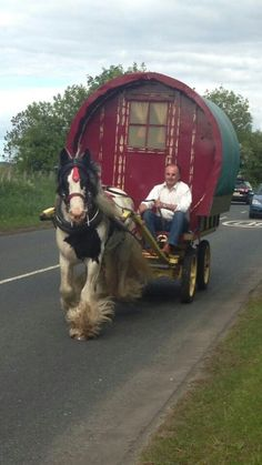 On the way to Appleby Horse Fair