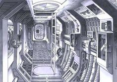spaceship interior concept art | Concept Space Ship Design of a Modern Apartment Interior Design