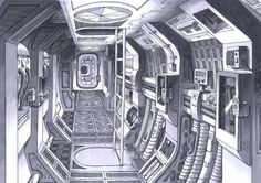 spaceship interior concept art | Concept Space Ship Design of a Modern Apartment Interior Design