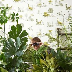 Create your own prehistoric jungle with creative wallpaper from @SianZeng. More imaginative wall designs worth exploring are at link in bio.