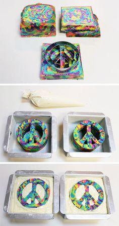 DIY Peace Cake by @followcharlotte | Peace Cake | Hippie Party Ideas