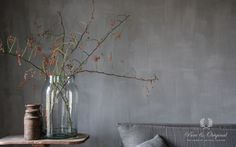 Fresco Kalkverf #limepaint Lime Paint. color Thunder Sky from #pureandoriginal. Credit: &Styling.