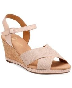 3d3977b29cf3 Clarks Collection Women s Helio Latitiude Wedge Sandals   Reviews - Sandals    Flip Flops - Shoes - Macy s