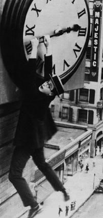 Probably the most famous of Harold's movies, Safety Last (1923)
