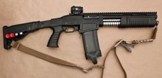 The SAP-6 shotgun is a magazine-fed short-barrel shotgun manufactured by Dagger in Turkey