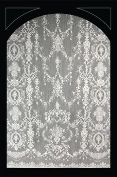 Lace curtains in traditional designs are 100% cotton.
