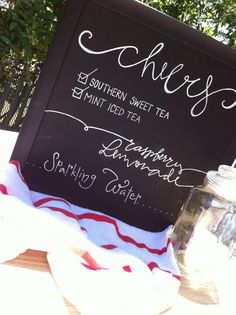 Chalkboard Menu Calligraphy Wedding Signs by GreySnailPress - if we can't find someone with a good writing style among our friends, this looks fun!
