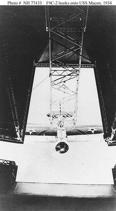 F9C-2 hooks onto USS Macon, 1934.