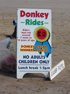 Scarborough - North Yorkshire - England. Donkey Rides along the beach, & I've got the photos to prove it...