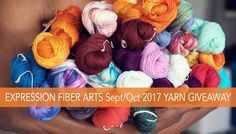 Enter now to win this massive pile of hand-dyed yarn by expression fiber arts! Ends oct Another fabulous giveaway! Knitting Stitches, Knitting Yarn, Knitting Patterns, Crochet Patterns, Knitting Projects, Crochet Projects, Expression Fiber Arts, Hand Dyed Yarn, Crochet Yarn