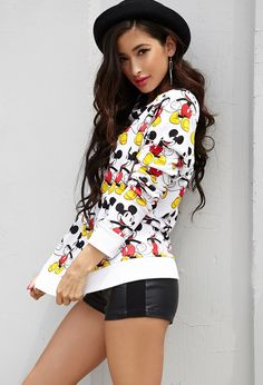 Mickey Mouse Raglan Pullover from Forever 21 #HighSchool You're never too old for a Mickey Mouse sweater