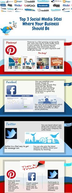 Top 3 social media sites where your business should be http://www.quickalliance.com/5-types-of-post-you-should-stay-away-from-on-facebook/