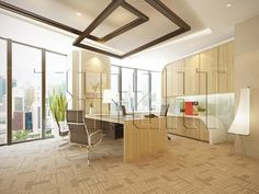 Manager Room.   Office interior design by Traart Private Limited. #interiordesign #traartinteriordesign #officeinteriordesign