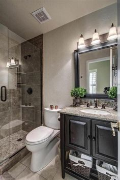 Remodel Your Small Bathroom Fast and InexpensivelySmall bathroom remodel ideas that are too easy to Fresh Small Master Bathroom Remodel Ideas And DesignSmall Bathroom Design Remodel Pictures Diy Bathroom Remodel, Bath Remodel, Bathroom Renovations, Budget Bathroom, Basement Bathroom Ideas, Basement Ideas, Restroom Remodel, Small Shower Remodel, Walkout Basement