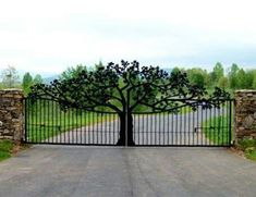 Image result for grills gates with tree design