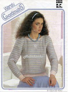 Ladies Knitting Patterns Ladies Striped Sweater by Hobohooks