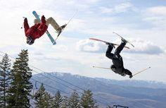 Skiers perform flips during Saturday's Big Trick Competition at Pebble Creek Ski Area. #pebblecreekskiarea #idaho #zombierace #idahostatejournal