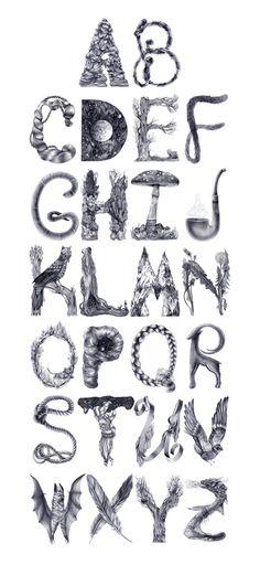 Typography by Karina Eibatova