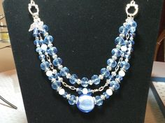 Crystal Blue Angel Necklace by MarysGiftHouse on Etsy