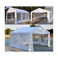 Gazebo Marquee Party Wedding Tent Portable Garden Carport Shelter Car Canopy for sale online Pvc Windows, Church Windows, Car Canopy, Tent, Portable Carport, White Gazebo, Bank Holiday Sales, Garden Gazebo, Outdoor Entertaining