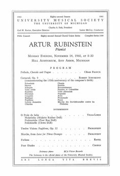 Structuring Your Practice - Practising the Piano Arthur Rubinstein, Music Journal, University Of Michigan, Teaching Materials, Conductors, Piano, November, Film, Concert