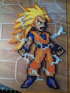 DBZ Goku Perler Beads by Khoriana on deviantART