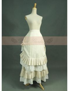 Ivory Cotton Vintage Victorian Skirt