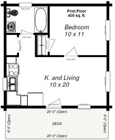 Portland adu tiny house plan cottage pinterest for Adu plans for sale