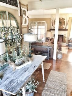 Farmhouse and rustic entryway!