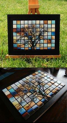 DIY Glass Tile Tree Mosaic