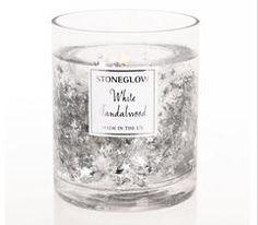 Stoneglow, Christmas, white sandalwood candle
