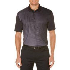 Ben Hogan Men's Bigs Performance Short Sleeve Ombre Printed Golf Polo, Size: 2XL, Black