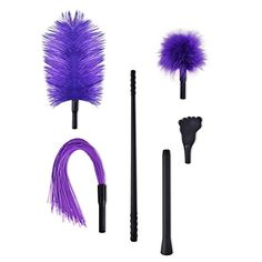 Utimi Detachable 4 in 1 BDSM Flirting Feather, Ball, Paddle and Whip  HIGH-END MATERIAL: Durable plastic handle, not easy to break off; 100% safe silicone whip with skin-friendly performance.  SPIRAL CONNECTING ROD: Be long or short as you like with adjustable length, meet your various levels of flirting requirements.  NOBLE & CLASSIC PURPLE: Bring you infinite visual enjoyment and shock, be your queen.  COMPACT & PORTABLE: Storage in your cosmetics and handbags, convenient to carry ar...