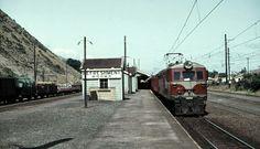 Refreshment Rooms sign at Paekakariki station, 1963. Image Transpress NZ